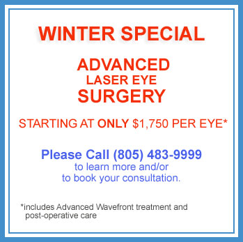 Lasik winter special pricing - Thousand Oaks and Oxnard